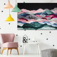 Contemporary abstract art in situ | Celeste Wrona | Print Decor Melbourne
