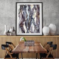 Contemporary abstract art in situ | Celeste Wrona | Print Decor