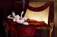Reclining Nude with Tattoos | Tattoo Queen IV