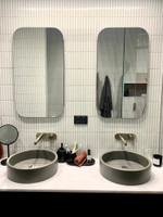 The frameless mirrors can be made to specified shapes.