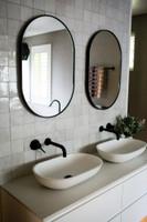 Bjorn Oval Black in bathroom