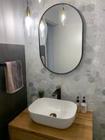Bjorn Oval Mirror Black 50 x 75 cm