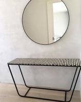 Modern Circular Mirror  above vanity