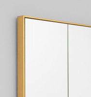Loft Brass Mirror | Frame close up