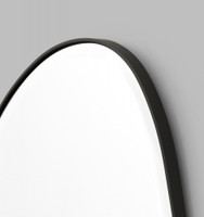 Riverstone Mirror | Frame Close-Up Black