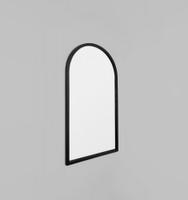 Cove Arch Leaner Mirror | Black | Print Decor