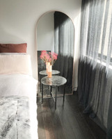 Arched Floor Leaner Mirror Bjorn - Blush Pink
