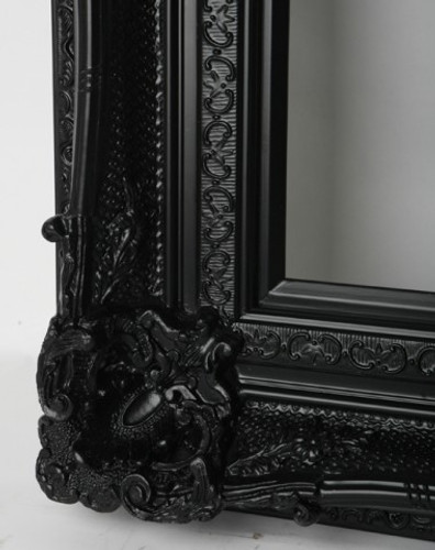 Print Decor Grand Ornate Black Frame Detail
