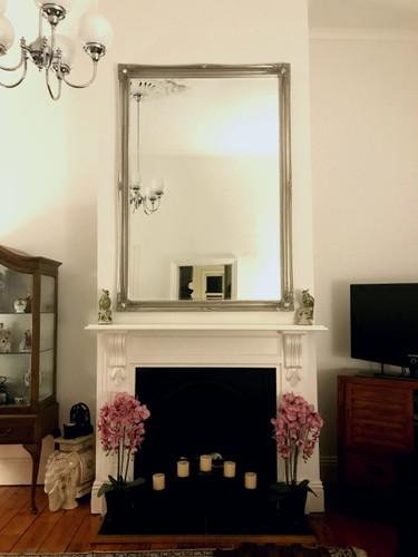 Contessa Silver Framed Bevelled Mirror
