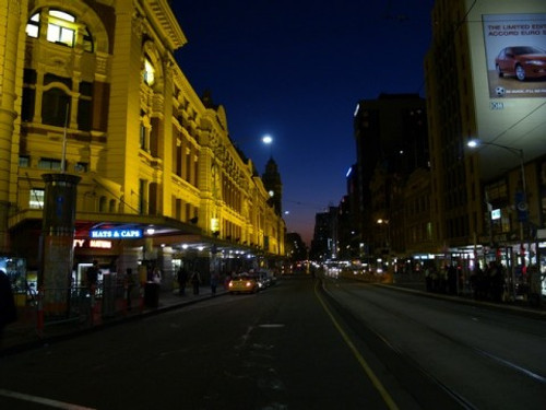 Melbourne Flinders Street at Dusk