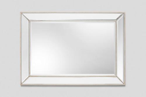 Beaded Angle Sliver Mirror - Contemporary / Art Deco