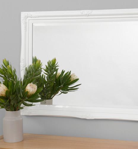 Print Decor Princess Gloss White Mirror, in situ