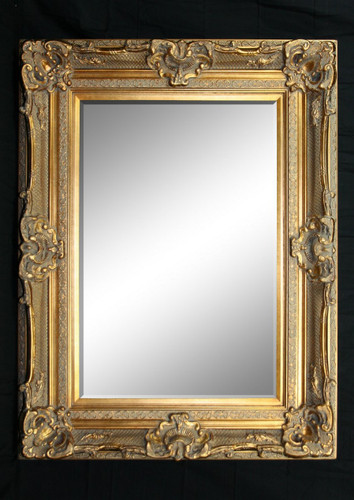 Print Décor - Grand Ornate Gold Beveled Mirror