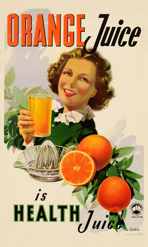 Print Decor   Orange Juice