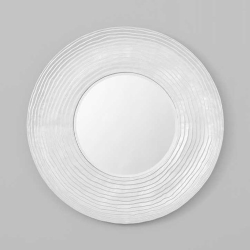 Print Decor | PEARL SHELL | Round Mirror |