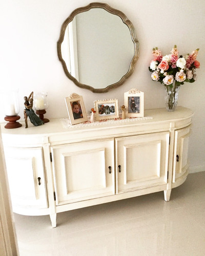 Marianne Mirror featured in clients home | Print Decor
