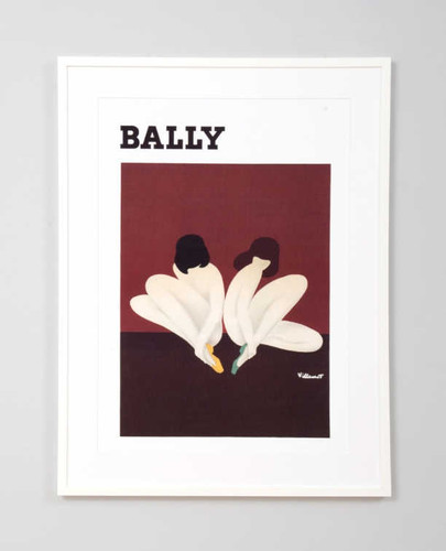 Print Decor   Bally Ladies Lotus   Vintage Poster Framed