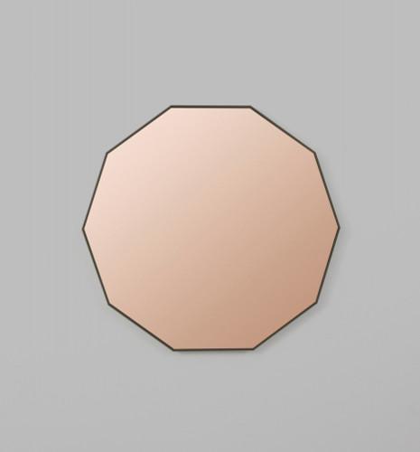 DUSK DECAGON ROSE TINTED MIRROR | PRINT DECOR
