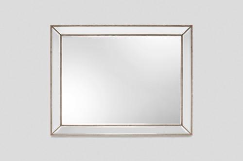 Beaded Angle Champagne Mirror