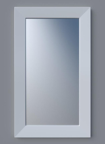 MODERN GEOMETRIC WHITE FRAMED MIRROR 2