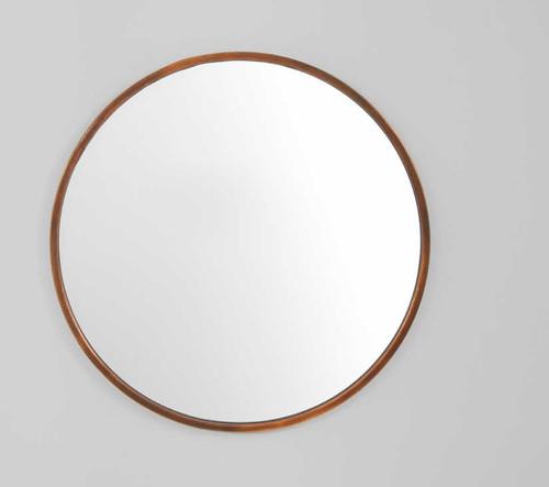 Copper Art Mirror 76cm | Print Decor