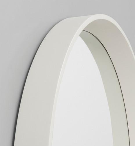 Round White Mirror | Detail | Print Decor