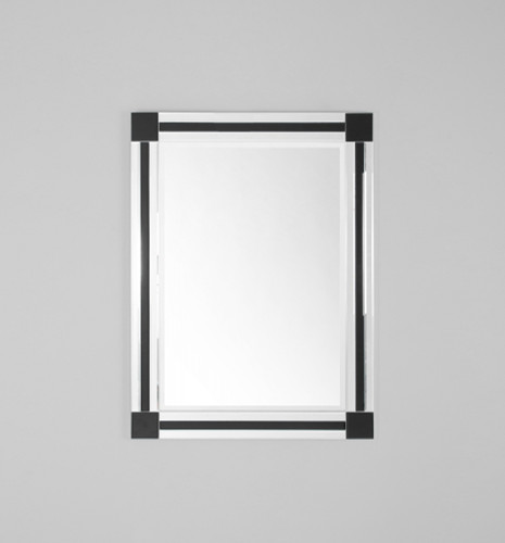 Modern Art Deco Mirror | St Kilda Single Black | Print Decor, Melbourne