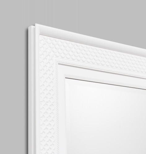 White Patterned Mirror | Detail