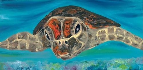 Australian Modern Marine Art | Turtle | Print Decor Gallery