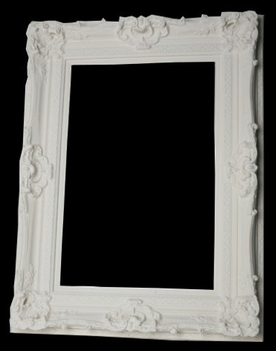 Empty Frame Grand Ornate White