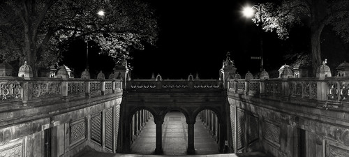Photography   Bethesda Terrace In Monochrome   Wide Format   by Nick Psomiadis