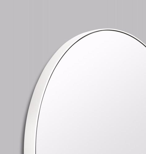 Modern Circular Mirror Bright White   Print Decor   Detail