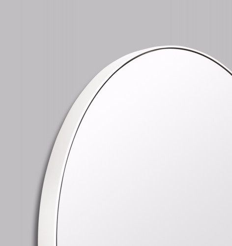 Modern Circular Mirror Bright White | Print Decor | Detail