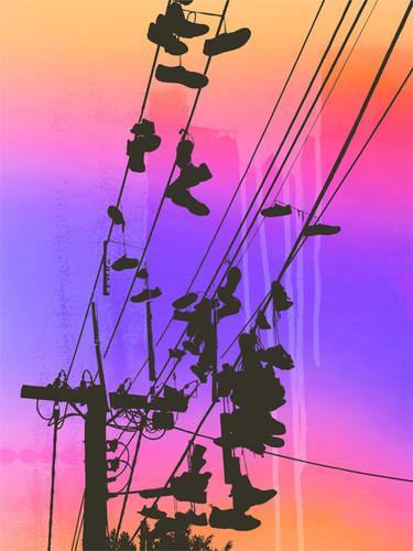 Jan Neil, Shoes Purple Orange