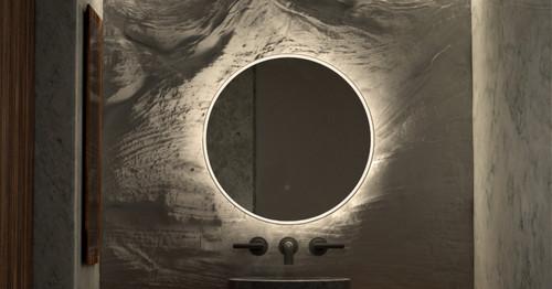 Round Backlit Mirror 60 cm, In Situ