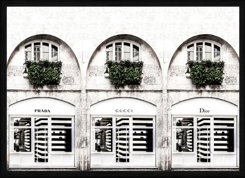 Fashion stores | Framed Print