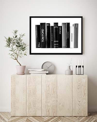 Fashion Books | Framed Print