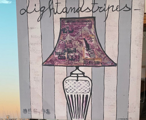Purple Lampshade print on canvas