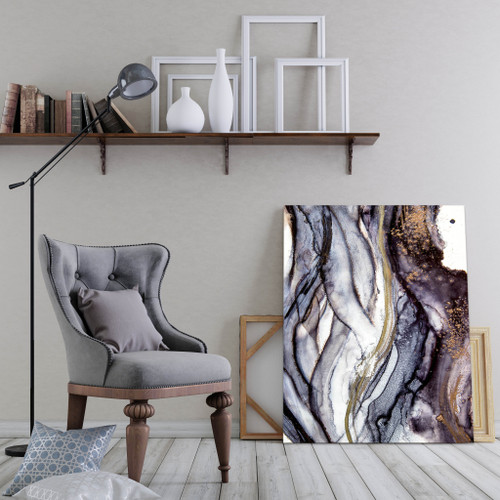 Modern organic abstract in situ | Celeste Wrona | Print Decor Melbourne