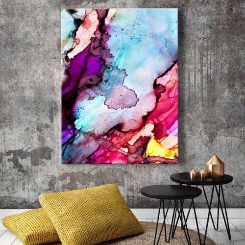 Modern vibrant art in situ | Celeste Wrona | Print Decor