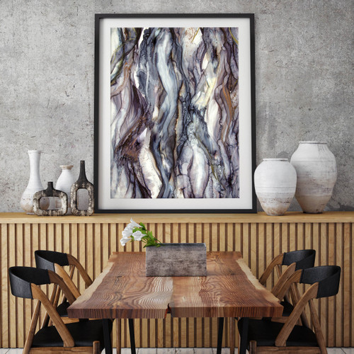 Contemporary abstract art in situ | Celeste Wrona | Print Decor