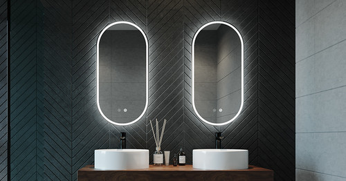 Gatsby Back Lit Mirror, unframed | In Situ | Print Decor