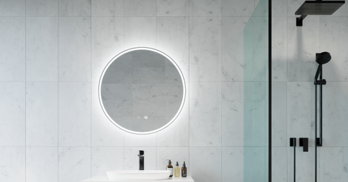 Sphere Back Lit Mirror | In Situ | Print Decor
