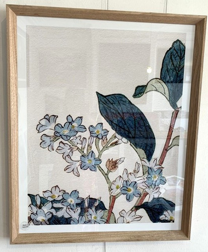 Oak Framed Floral Print
