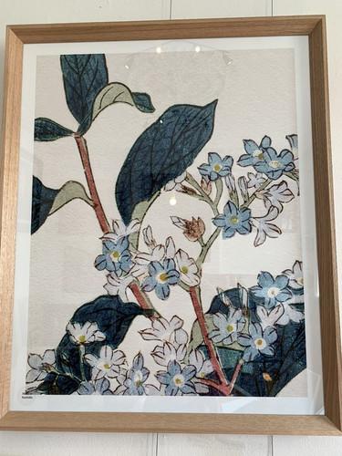 Oak Framed Floral Print 2