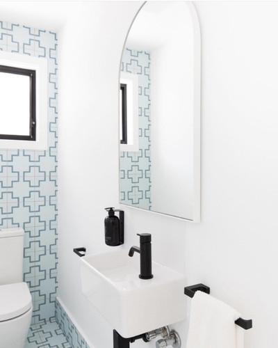 Arched Mirror-Bjorn 55 x 85 cm White Frame