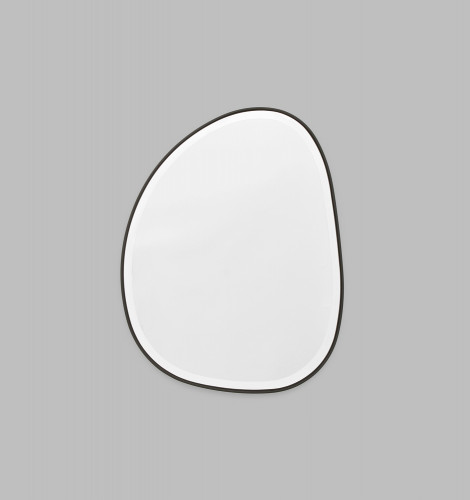 Riverstone Mirror   55 x 70cm Black