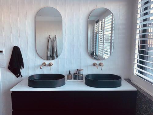 Frameless Capsule Shape mirrors