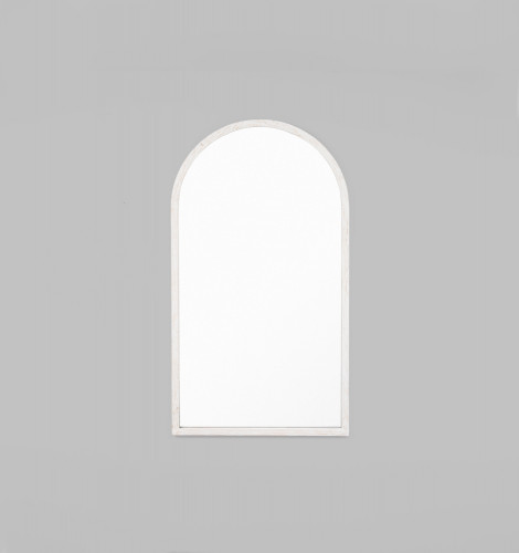Cove Arch Leaner Mirror | White | Print Decor