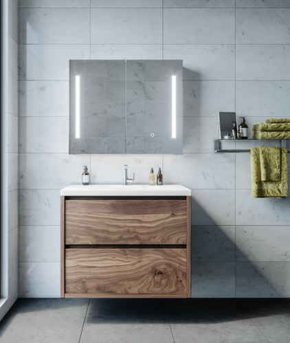 Amber Mirror Cabinet | Print Decor